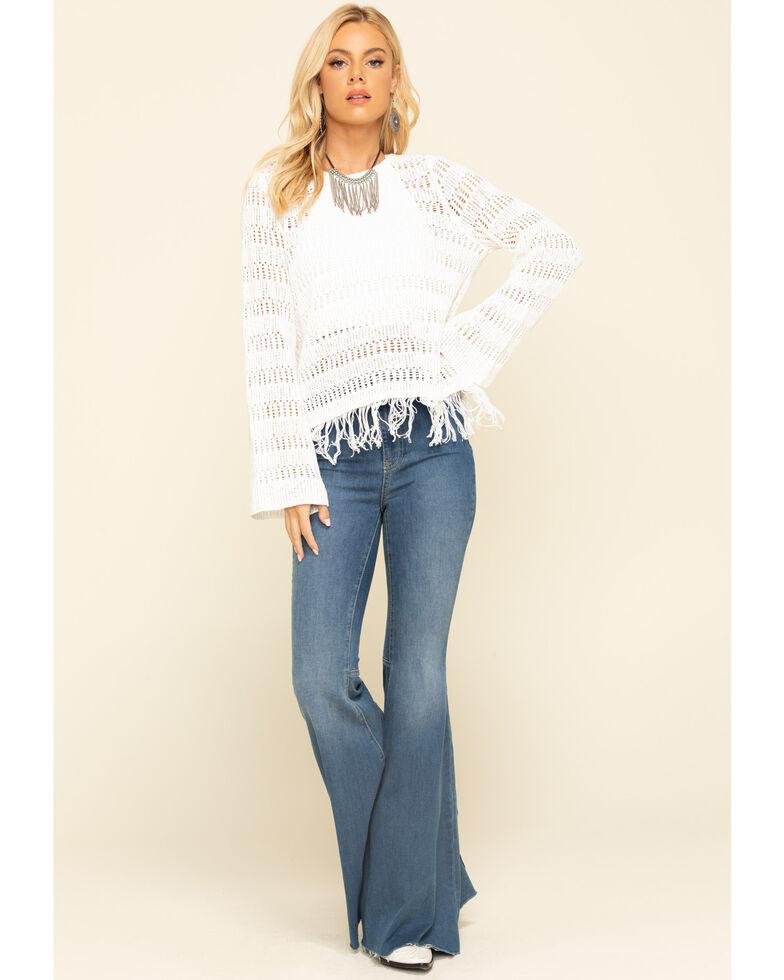 Wrangler Women's Ivory Crochet Pullover Top, Ivory, hi-res