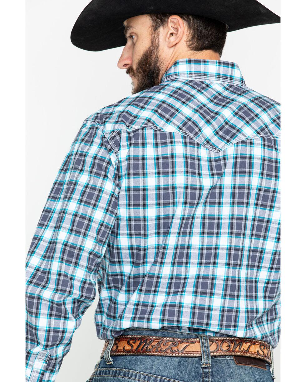 Wrangler 20X Men's Black Plaid Competition Advanced Comfort Long Sleeve Western Shirt, Black, hi-res