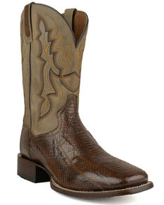 Dan Post Men's Exotic Snake Skin Western Boots - Snip Toe, Brown, hi-res