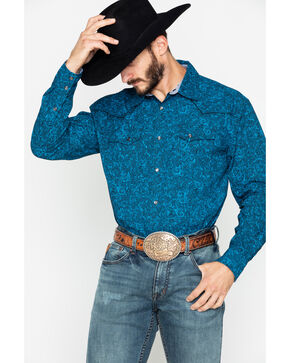Moonshine Spirit Men's Unsung Long Sleeve Western Shirt, Black, hi-res