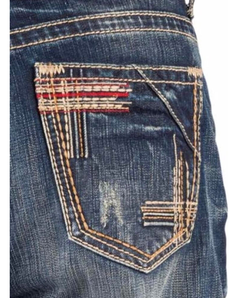 Tin Haul Men's Regular Joe Fit Red Deco Stitching Bootcut Jeans, Indigo, hi-res