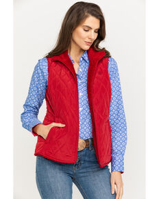 Ariat Women's Red Hallstatt Laylow Reversible Vest, Red, hi-res
