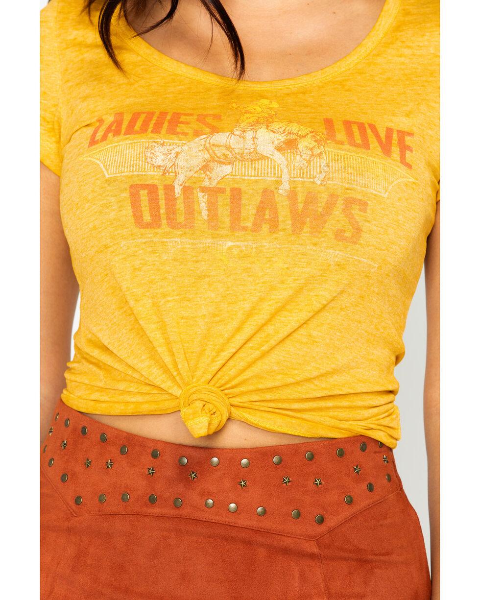 Idyllwind Women's Outlaw Trustie Tee, Dark Yellow, hi-res