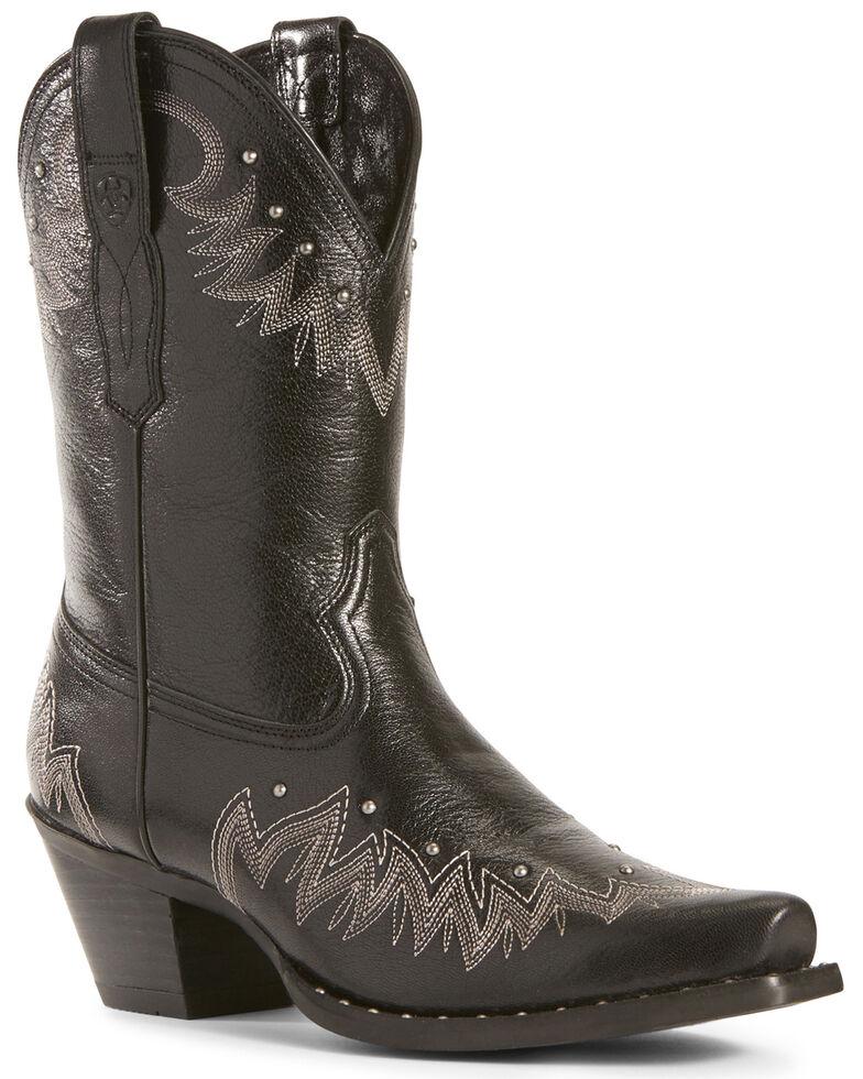 Ariat Women's Potrero Jackal Fashion Booties - Snip Toe, Black, hi-res