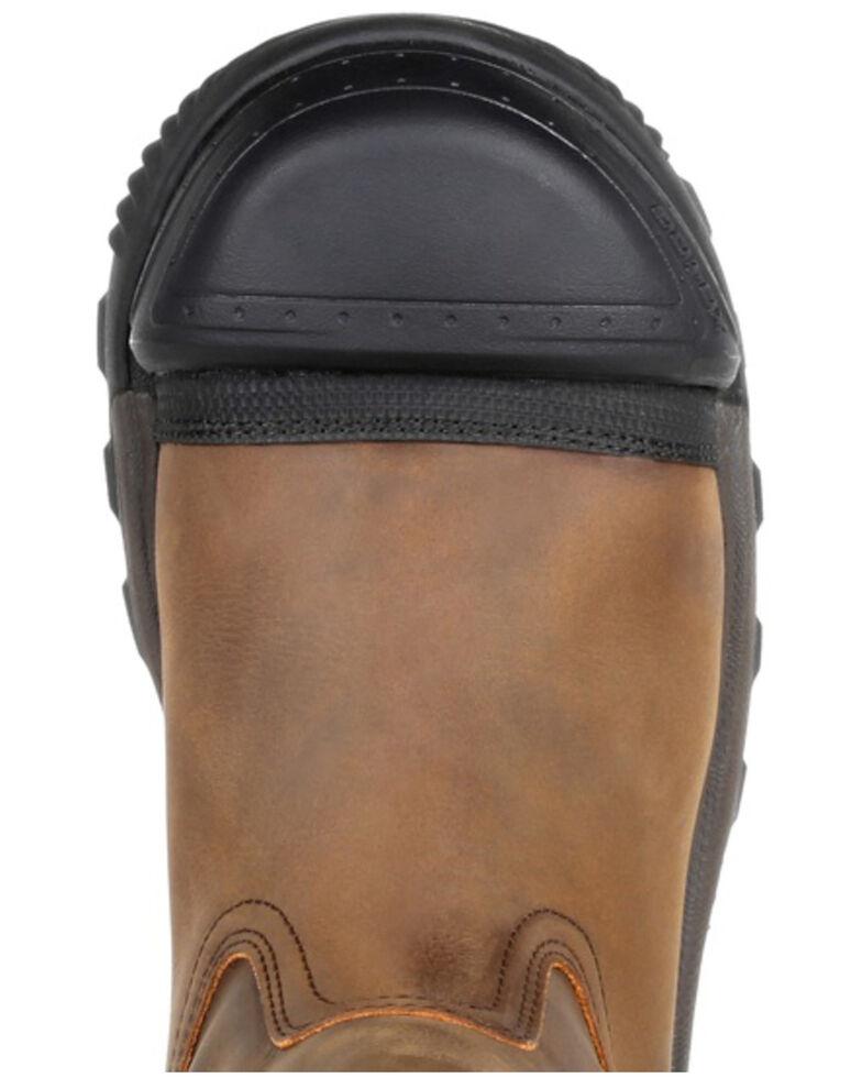 Rocky Men's XO-Toe Waterproof Work Boots - Composite Toe, Brown, hi-res
