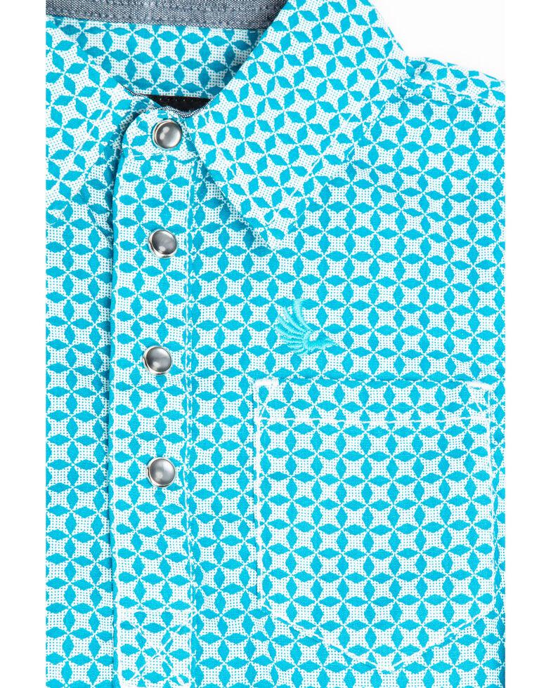 Cody James Infant Boys' Diamond Field Print Long Sleeve Body Shirt , Turquoise, hi-res