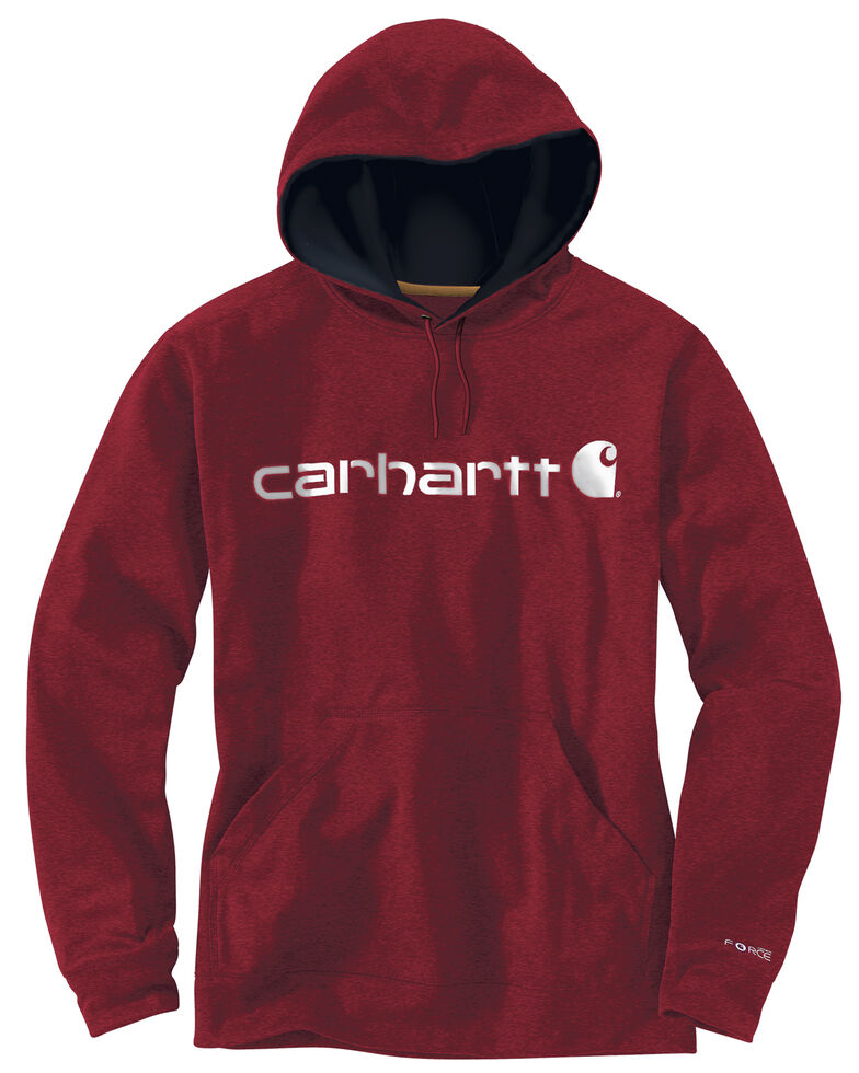 Carhartt Extremes® Force Signature Graphic Hooded Sweatshirt - Big & Tall, Dark Red, hi-res