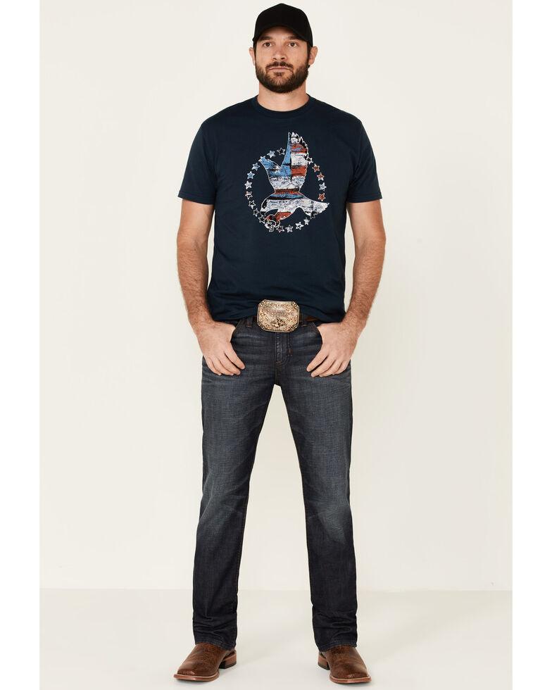 Cody James Men's Navy Star Grab Eagle Graphic Short Sleeve T-Shirt , Navy, hi-res