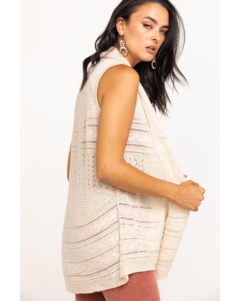 Wrangler Women's Oatmeal Sweater Duster Vest, Oatmeal, hi-res