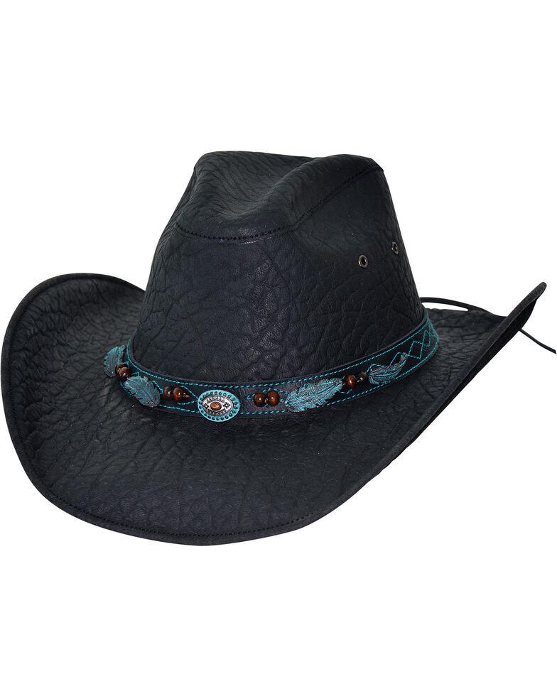 Bullhide Men's Black Serenade Leather Hat , Black, hi-res