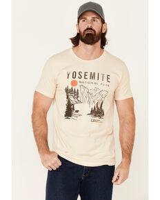 National Park Foundation Men's Gold Yosemite Park Graphic Short Sleeve T-Shirt - Big, Gold, hi-res
