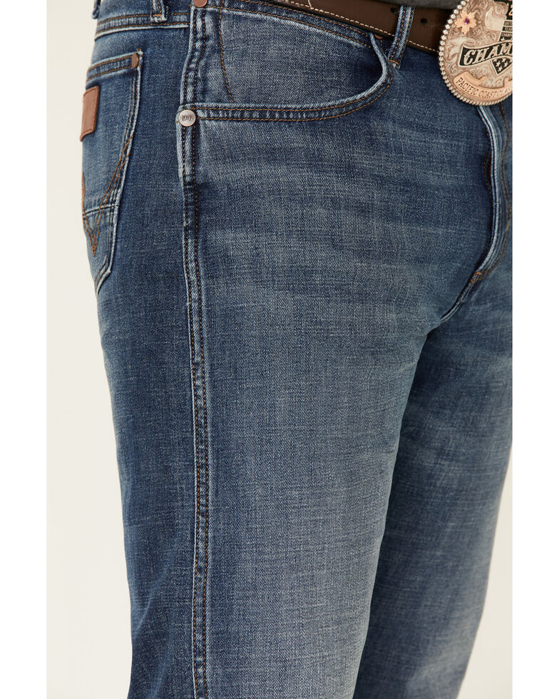 Wrangler Retro Men's Mustang Island Relaxed Bootcut Jeans - Long, Blue, hi-res