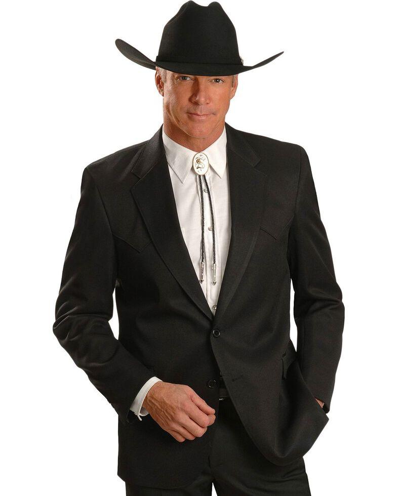Circle S Men's Lubbock Suit Coat - Short, Reg, Tall, Black, hi-res