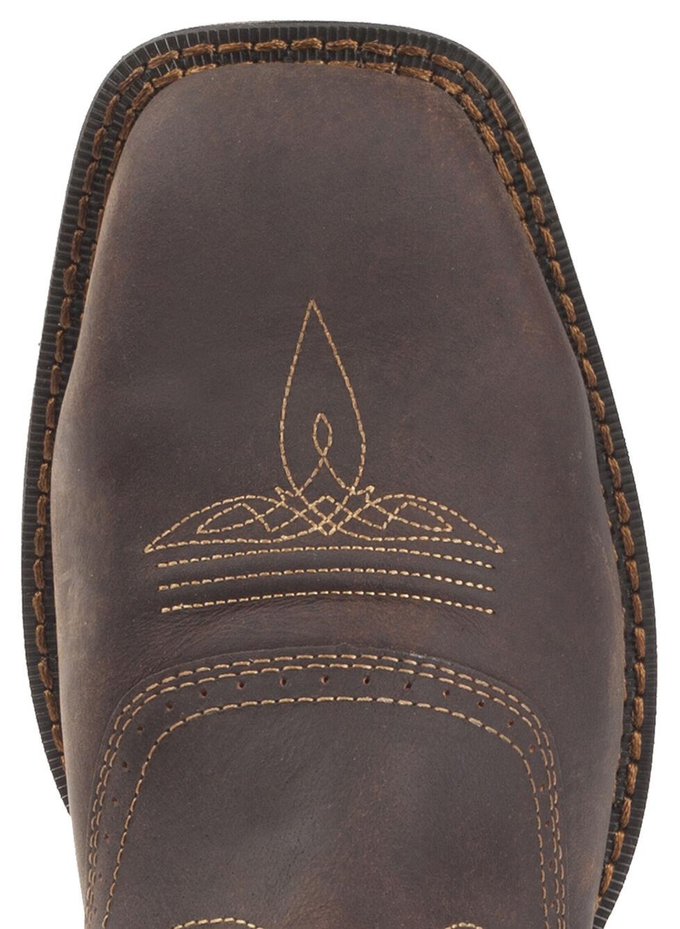 Durango Rebel Men's Waterproof Western Boots - Steel Toe, Brown, hi-res