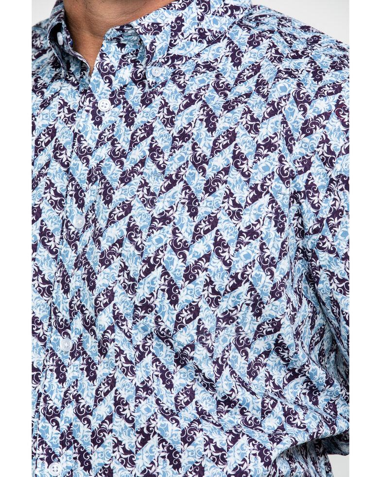 Cody James Core Men's Dragon Geo Print Short Sleeve Western Shirt , Blue, hi-res