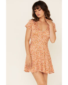 Idyllwind Women's Willow Floral Dress, Peach, hi-res