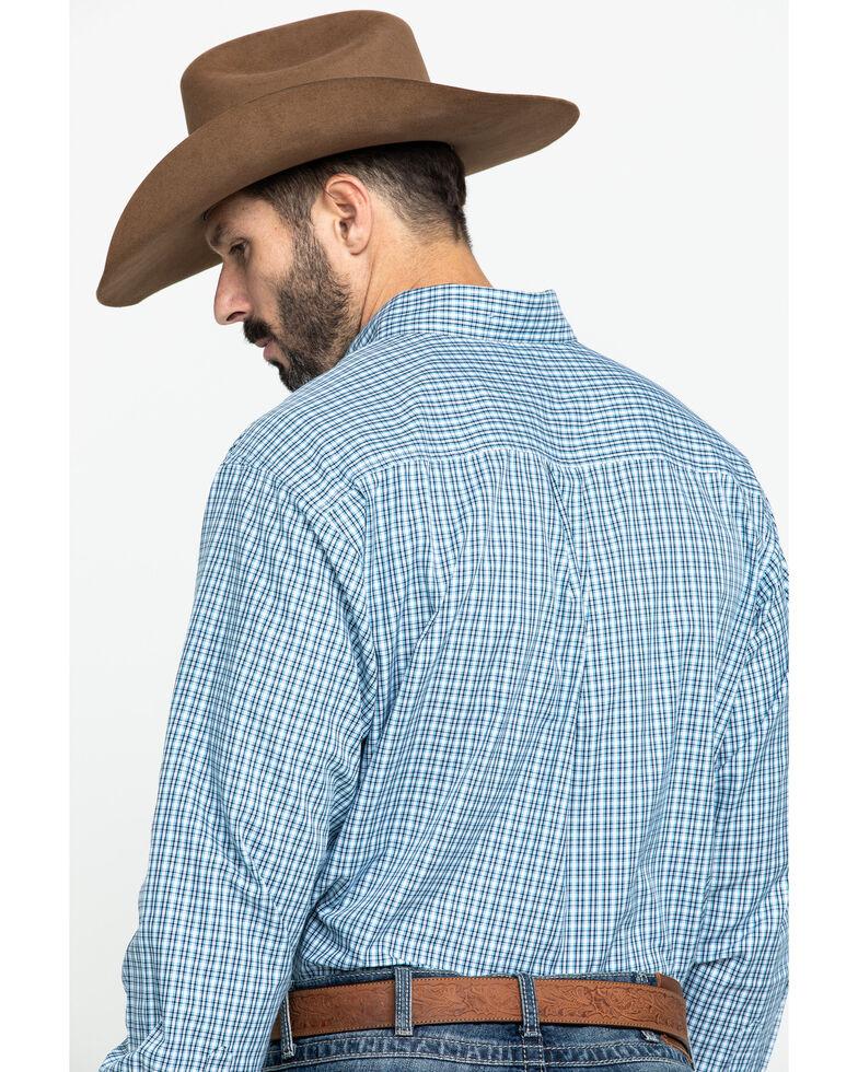 Cinch Men's Tencel White Small Plaid Long Sleeve Western Shirt , White, hi-res