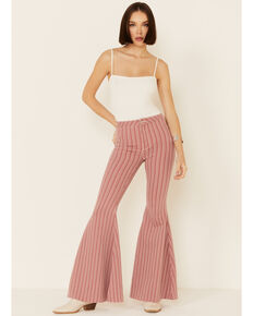 Free People Women's Be Mine Flare Jeans, Red, hi-res