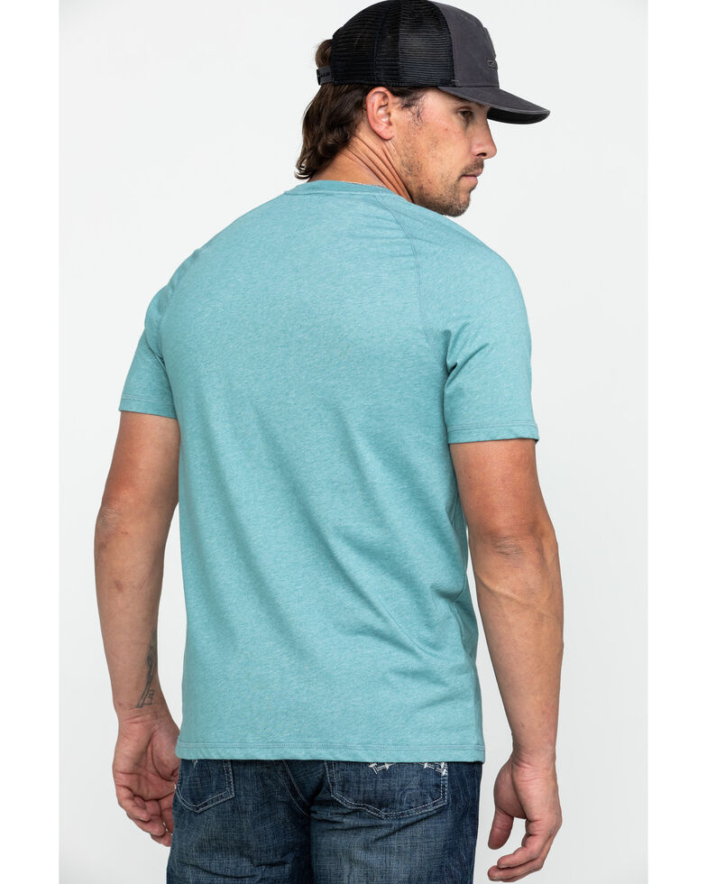 Carhartt Men's Grey Force Cotton Delmont Graphic Work T-Shirt , Heather Grey, hi-res