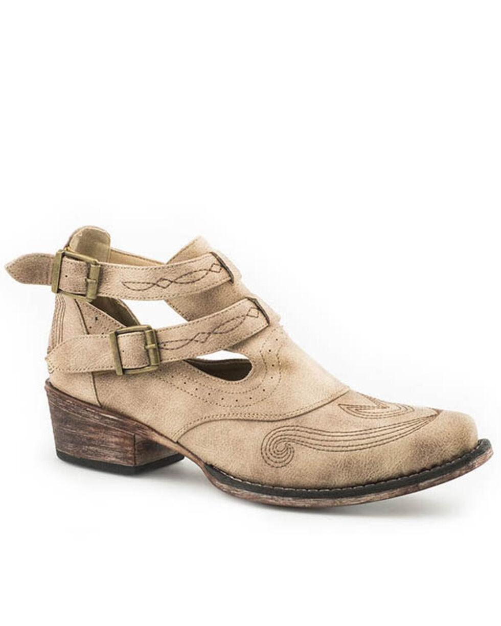 09-021-1567-2186 Roper Women/'s Vintage Beige Harness Fashion Booties Snip Toe