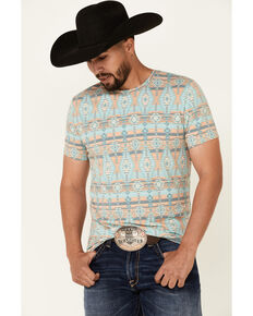Dale Brisby Men's Aztec Print Short Sleeve T-Shirt , Multi, hi-res
