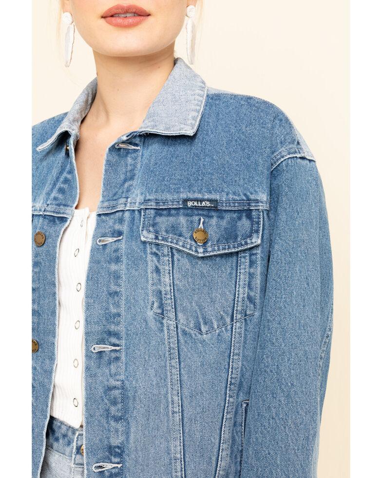 Rolla's Women's Medium Contrast Back Yoke Denim Jacket , Blue, hi-res