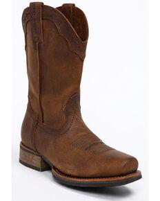 Cody James Men's Brown Xero Gravity Western Work Boots - Square Toe, Brown, hi-res