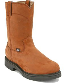 Justin Men's Transcontinental EH Waterproof Work Boots - Soft Toe, Aged Bark, hi-res