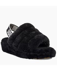 UGG Women's Fluff Yeah Slippers, Black, hi-res