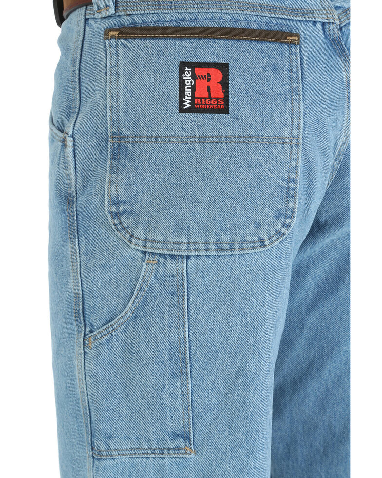 Wrangler Riggs Men's Workwear Vintage Indigo Relaxed Carpenter Jeans - Big , Indigo, hi-res