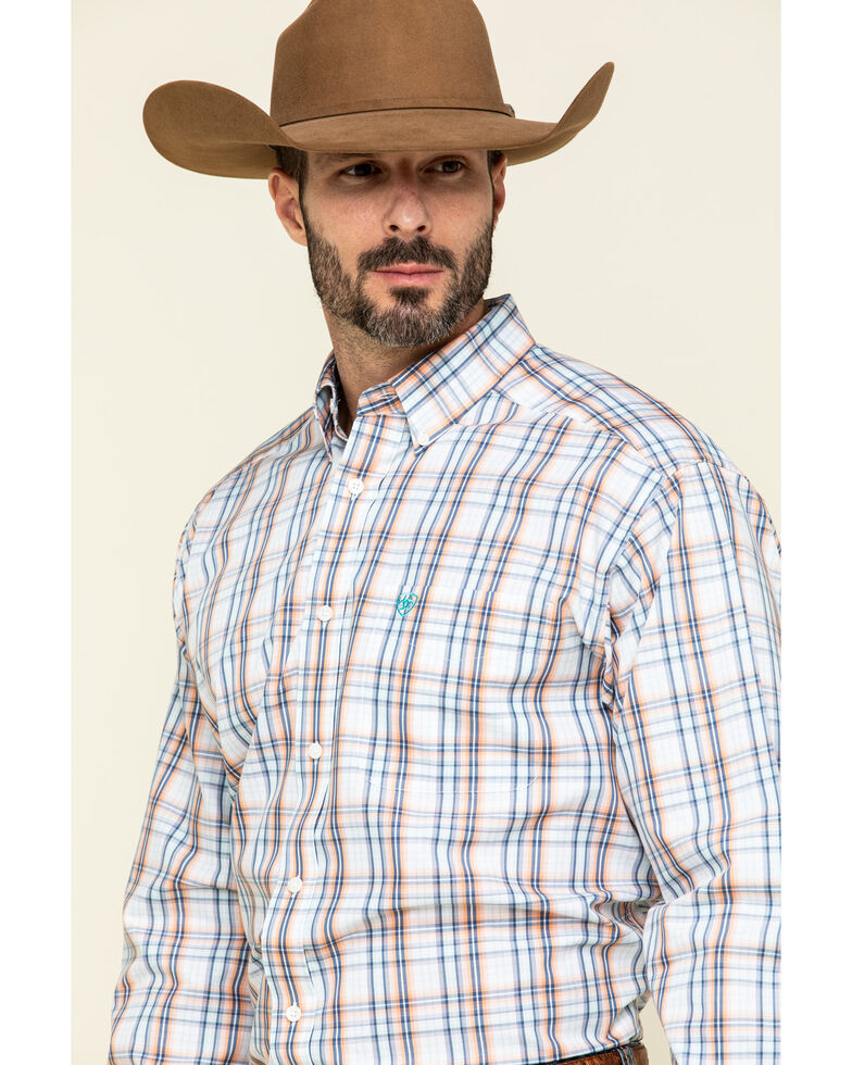 Ariat Men's Wrinkle Free Zukiah Multi Plaid Long Sleeve Western Shirt , Multi, hi-res
