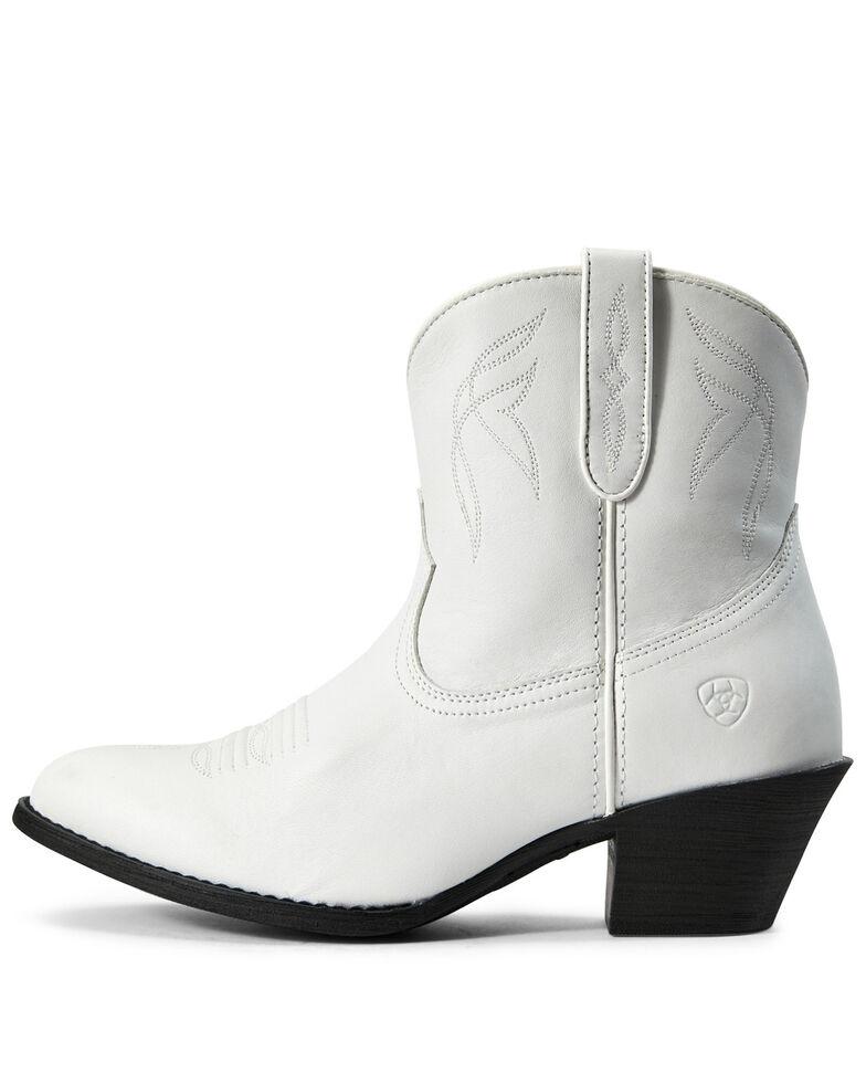 Ariat Women's Darlin Zipper Booties - Round Toe, White, hi-res