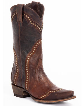 Idyllwind Women's Rebel Western Boots - Snip Toe, Brown, hi-res