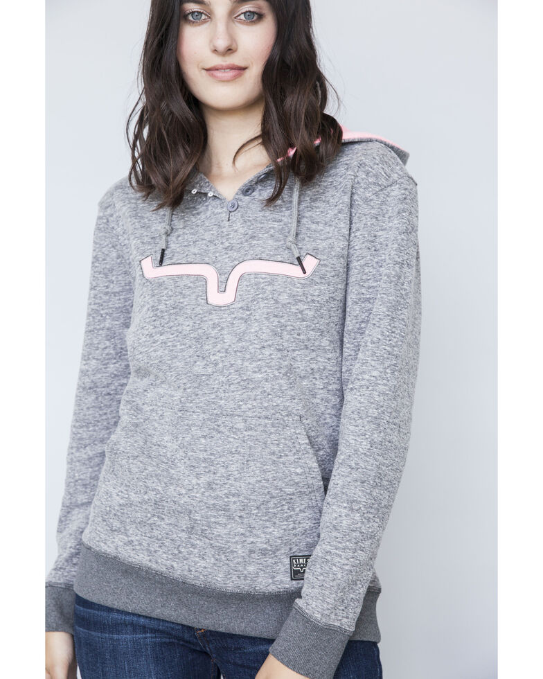 Kimes Ranch Women's Viceroy French Terry Hoodie Pullover, Charcoal, hi-res