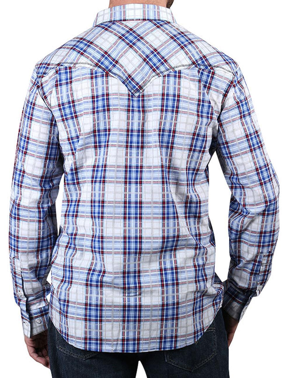 Cody James Men's Trapper's Tail Plaid Western Shirt, White, hi-res
