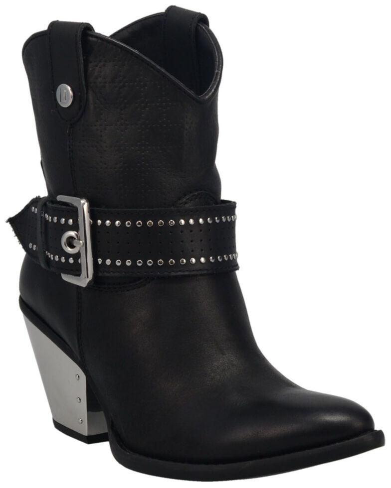 Dingo Women's Backstage Western Booties - Medium Toe, Black, hi-res