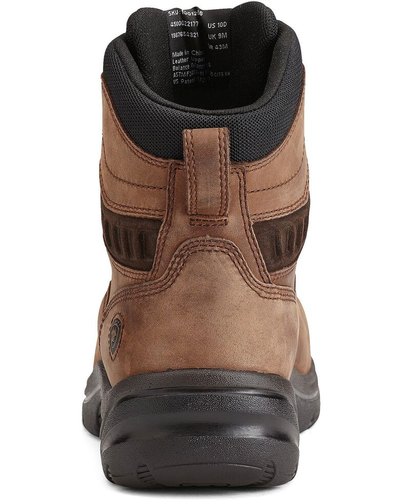 "Ariat Flex Pro 6"" Lace-Up Distressed Work Boots - Composite Toe, Brown, hi-res"