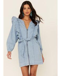 Free People Women's Blue Imogene Mini Dress, Blue, hi-res