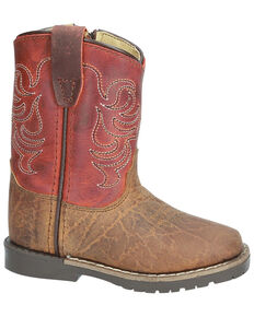 Smoky Mountain Toddler Boys' Autry Western Boots - Square Toe, Brown, hi-res