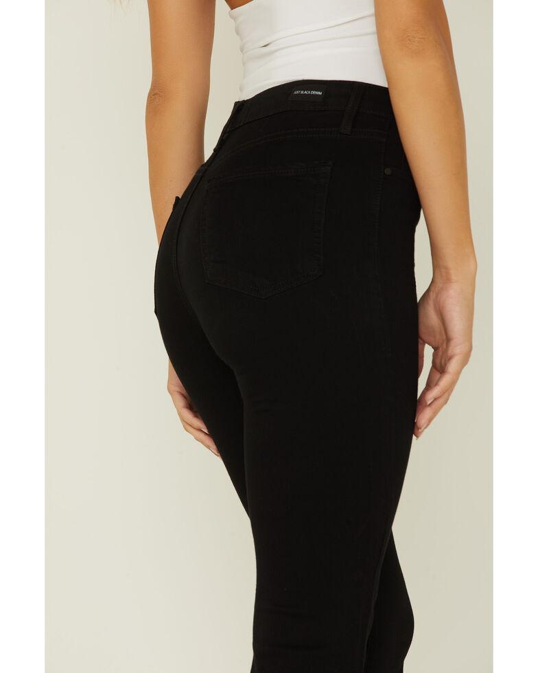 Just Black Denim Women's High-Rise Bell Bottom Jeans, Black, hi-res