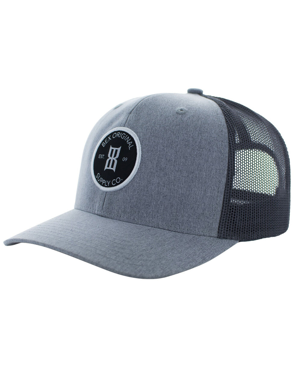 Bex Men's Round Patch Baseball Cap, Grey, hi-res