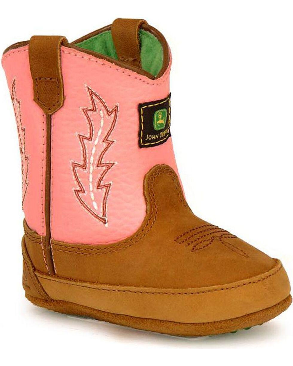 John Deere Infants' Johnny Poppers Boots, Pink, hi-res