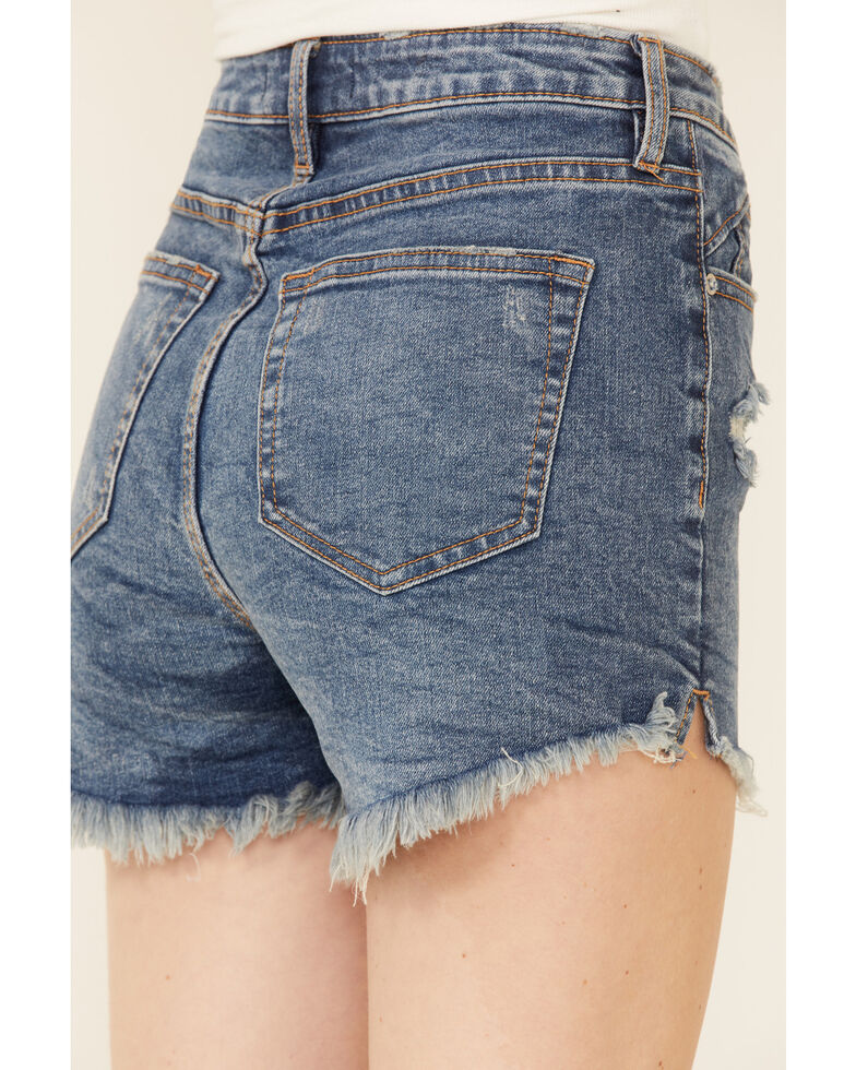 Free People Women's Curvy Vintage Shorts, Blue, hi-res