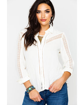 Idyllwind Women's Western Breeze Top , Ivory, hi-res