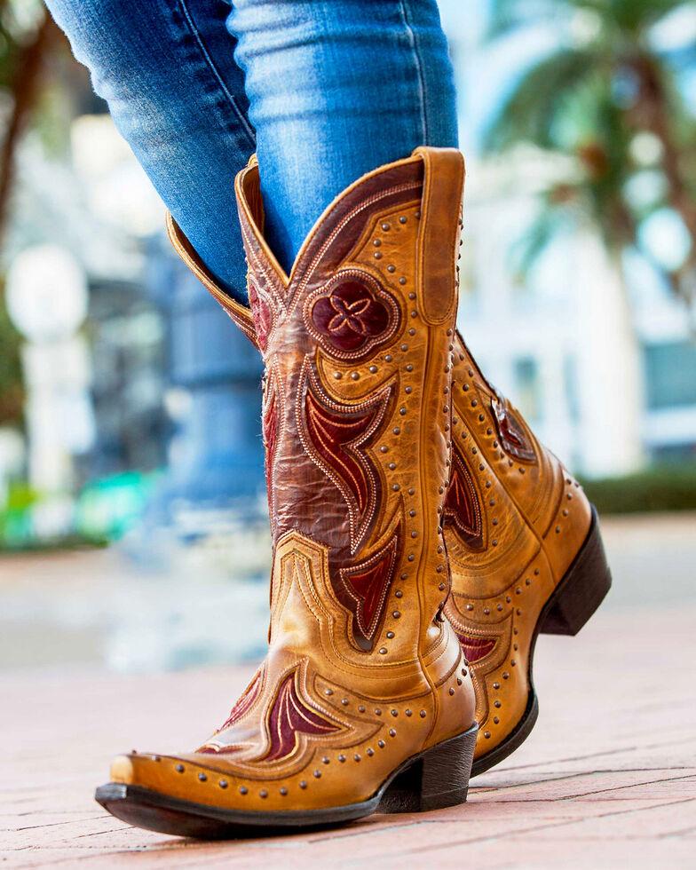 Old Gringo Women's Granby Cowgirl Boots - Snip Toe , Tan, hi-res
