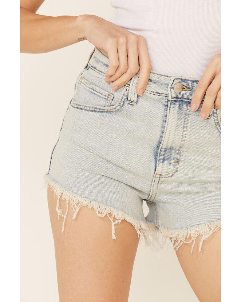 Lee Women's Vintage Light Wash Cut-Off Shorts, Blue, hi-res