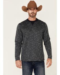 Cody James Men's Navy Prospector Slub Crew Long Sleeve T-Shirt , Navy, hi-res