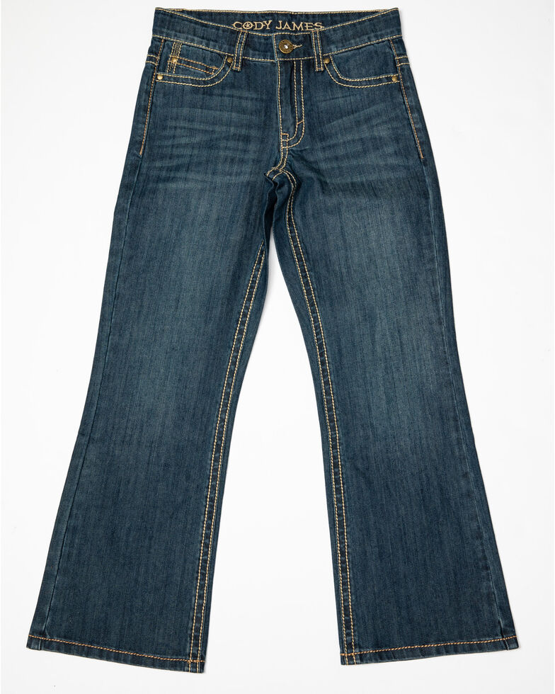 Cody James Boys' 8-20 Dark Rodeo Relaxed Bootcut Jeans - Big , Blue, hi-res