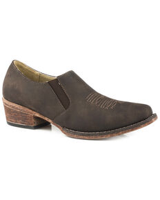 Roper Women's Birkita Classic Shoe Boots - Snip Toe, Brown, hi-res