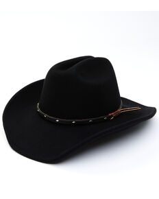 Cody James Men's Black Wool Felt Western Hat, Black, hi-res